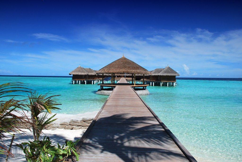 beach, resort, jetty