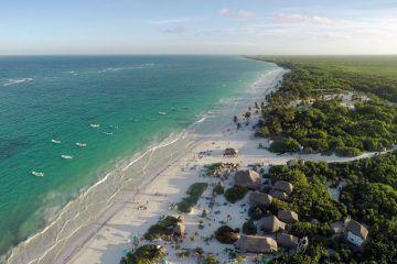 playa de tulum aerea